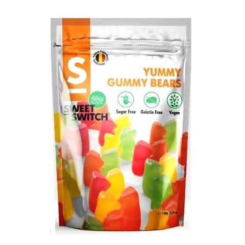 Yummy Gummy Bears No Added Sugar Free Vegan Stevia SWEET SWITCH 150g